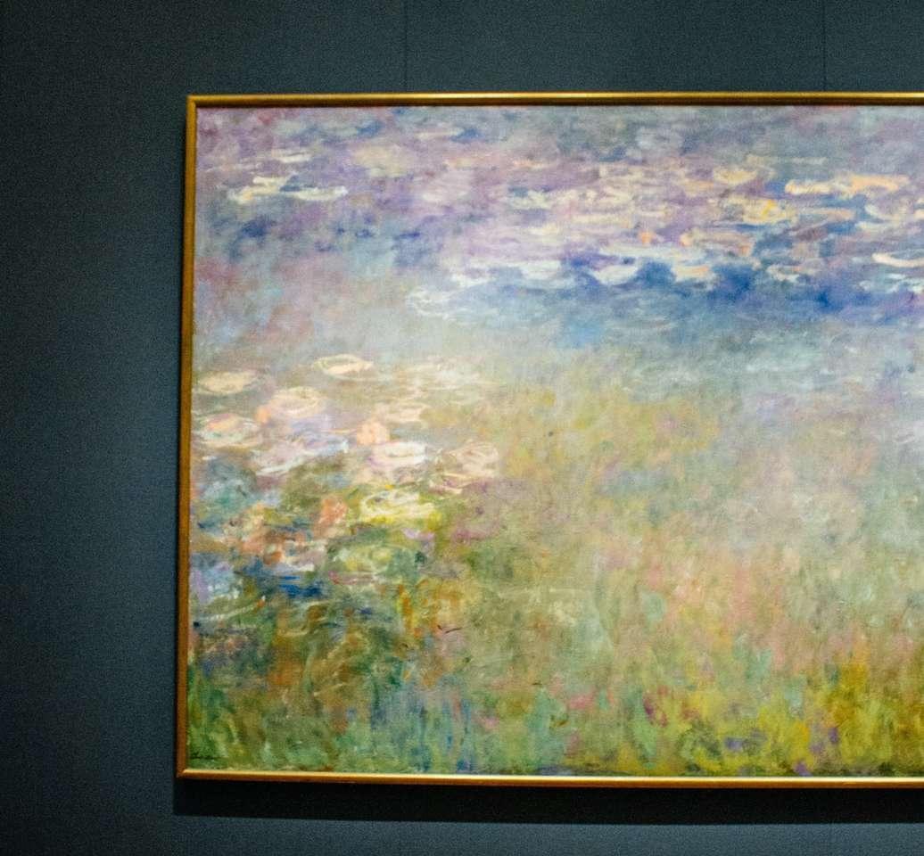 зелена и кафява абстрактна живопис - Музеят на изкуството на Нелсън-Аткинс, Канзас Сити, САЩ (11×11)