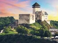 Trencin-kastély Szlovákiában
