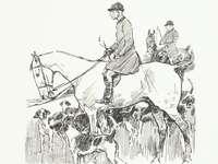 hombre montando a caballo ilustración