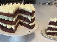 Cake with banana