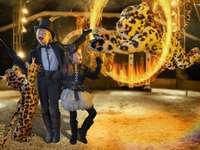 enfants déguisés en tigre - cirque
