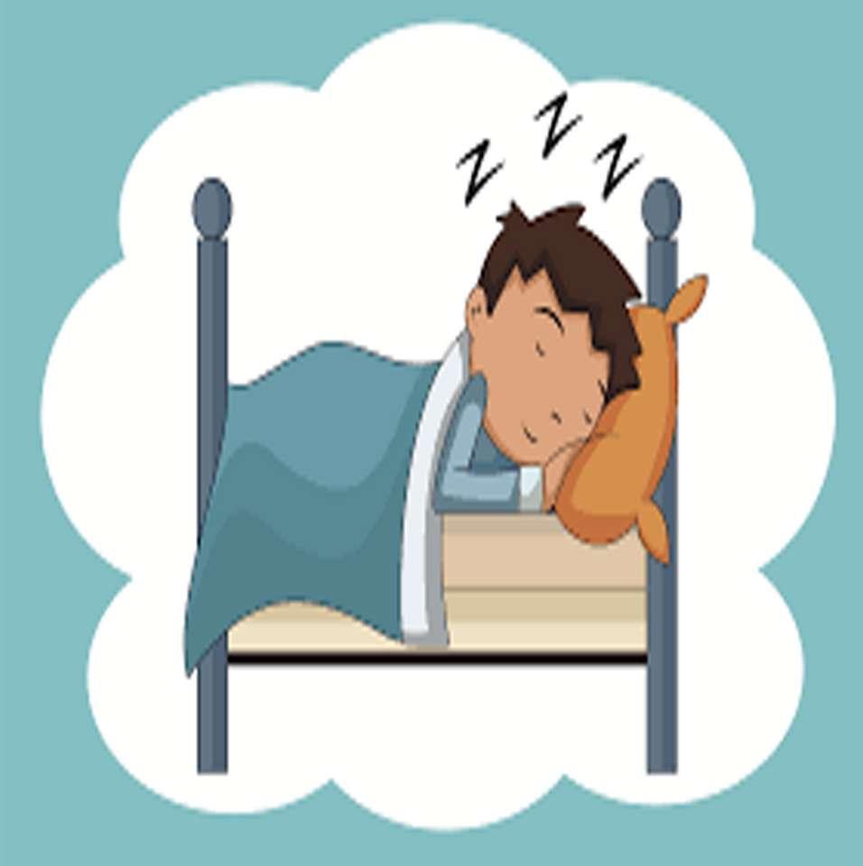 El descanso - Dormir 8 horas diarias es recomendable para que nuestro cuerpo reponga las energías que necesita para poder realizar todas sus actividades diarias (5×6)