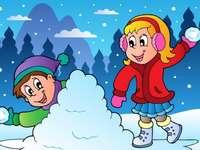 Distracție pe zăpadă