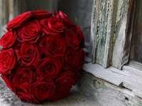 топка червени рози
