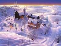 zasněžená zima
