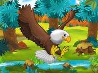 Учител Aboutorabi, който учи орел от диви животни