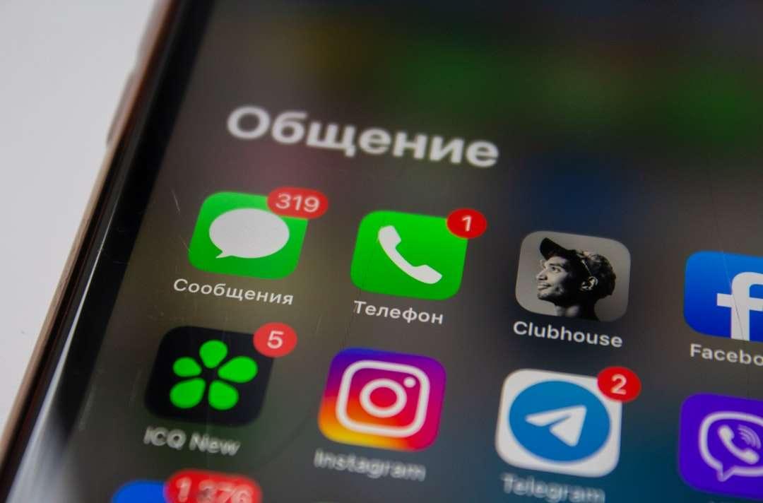 екран на iphone, показващ икони с икони - Последвайте ме в Clubhouse: @juvnsky (15×10)