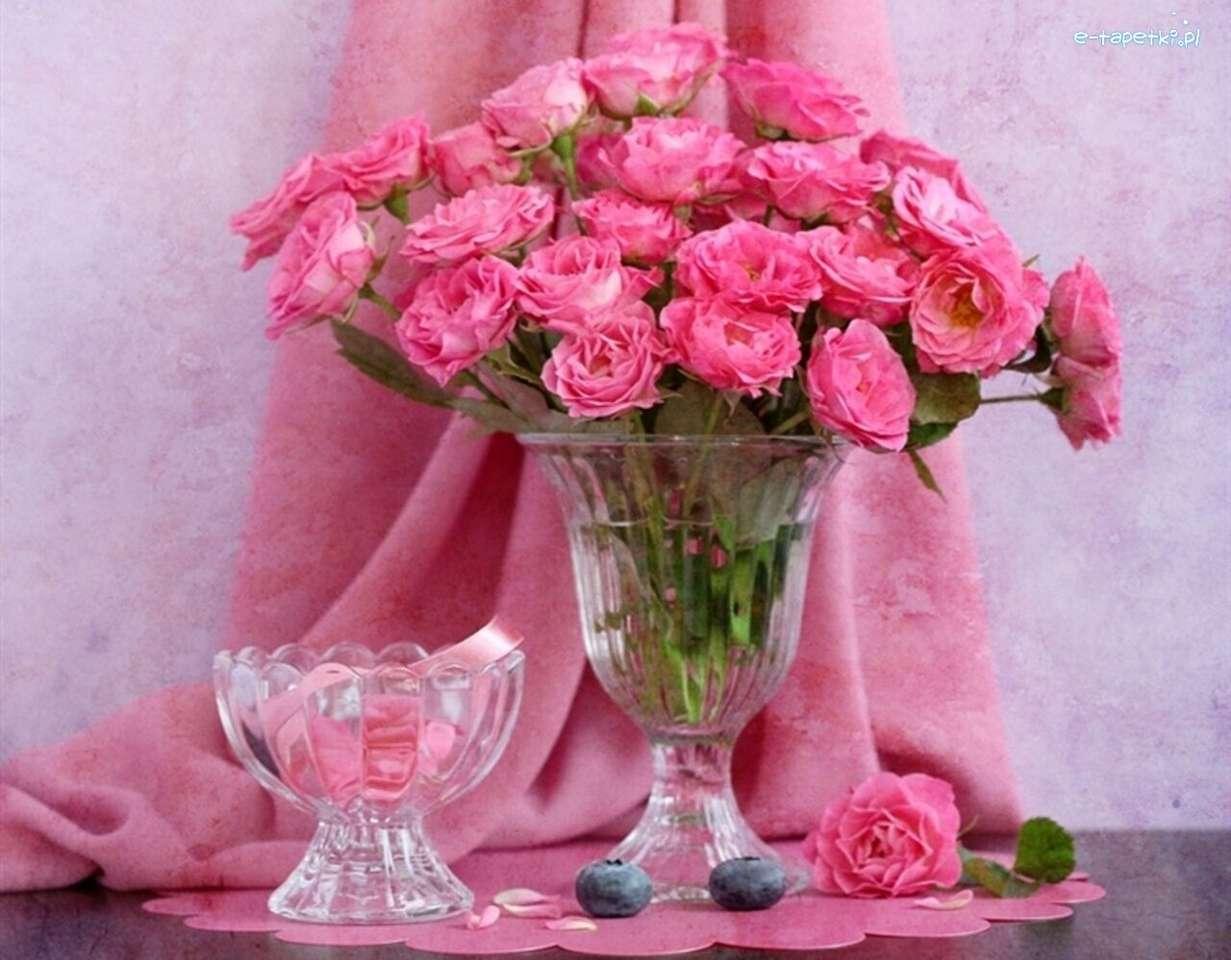 ροζ τριαντάφυλλα - Μ (12×10)