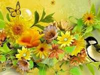 csokrok virágok