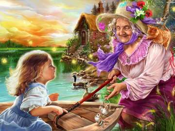 babcia z wnuczką