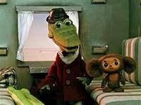 Gena és Cheburashka a vonaton