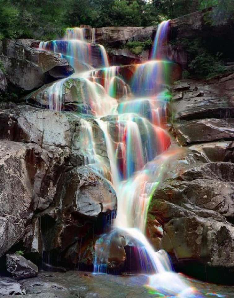 cascada multicolor - cascada multicolor, una belleza natural (15×20)