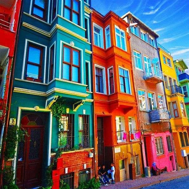 цветни сгради в Турция - м (10×10)