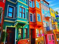 colorful buildings in turkey