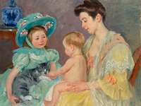 """""""Children Playing with a Cat"""""""