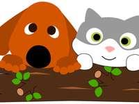 chat et chien pour la maternelle