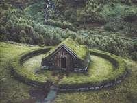 Huis in het groen