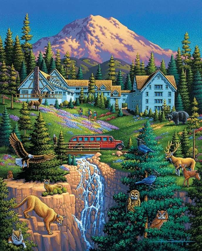 V horách - Krajina puzzle (9×12)