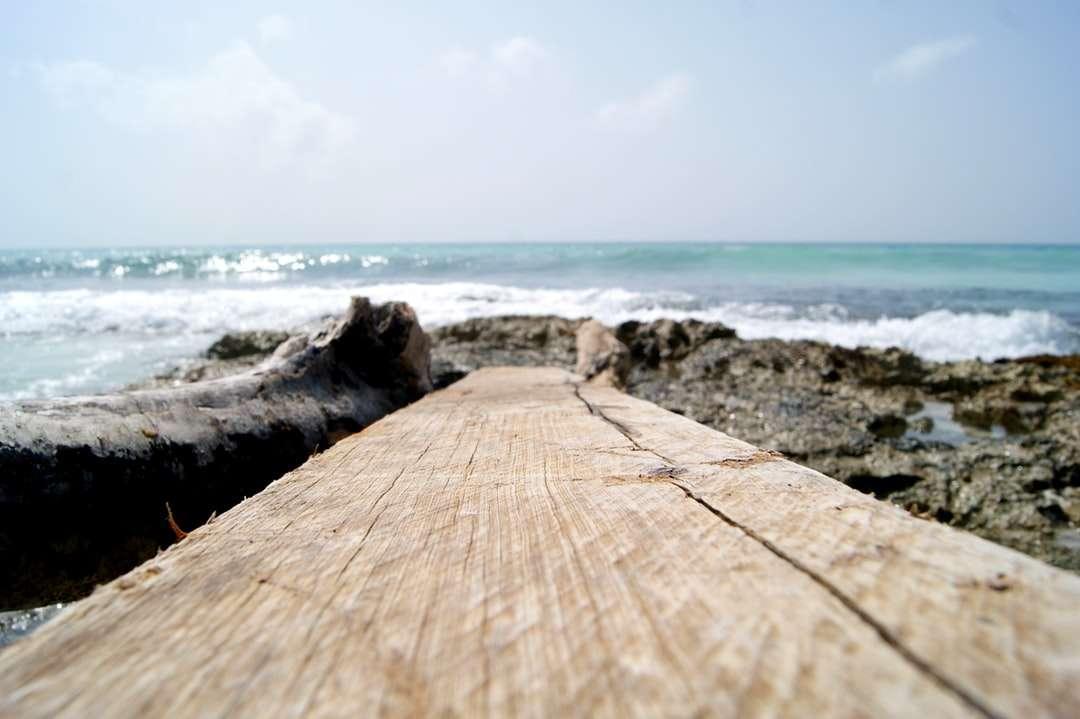 doc din lemn maro lângă corpul de apă în timpul zilei - Cancún, Q.R., México (19×13)
