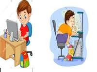Pozice na počítači pro předškolní děti
