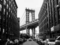 Manhattan Bridge, New York overdag