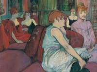 """At the Salon ..."" (1894), door Toulouse-Lautrec"