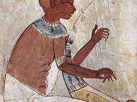 The Egyptian Harpist