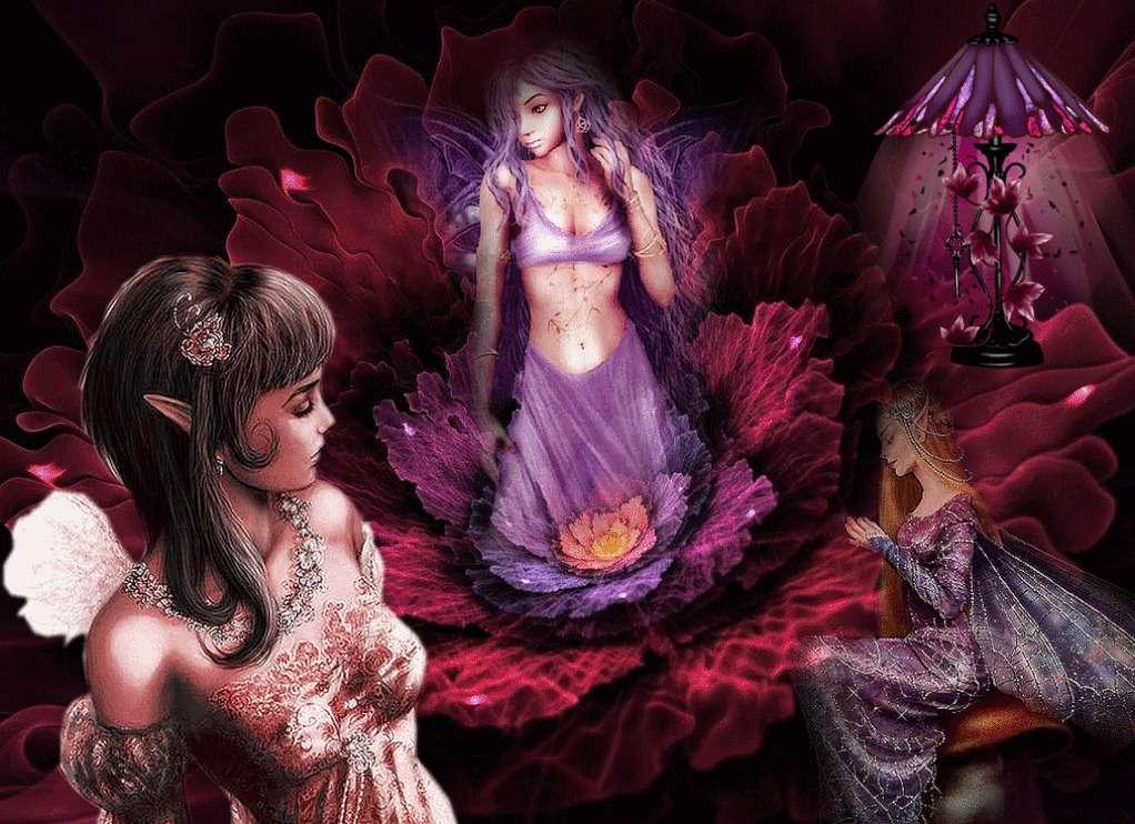 De feeën - Afbeelding van het net, royaltyvrij (9×7)