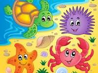 Rompecabezas animale marine 2