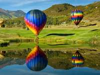 de viaje en globo