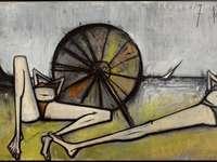 """""""Οι παραλίες, η ομπρέλα"""" 1967 από τον Μπερνάρ Μπουφέ"""