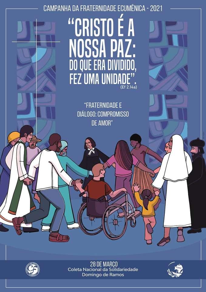 Broederschapscampagne 2021 - Broederschapscampagne Puzzel 2021 - Christus is onze vrede (8×12)