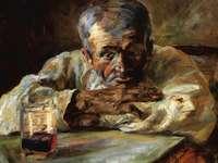 """""""The drinker"""" του Henri DE TOULOUSE-LAUTREC"""