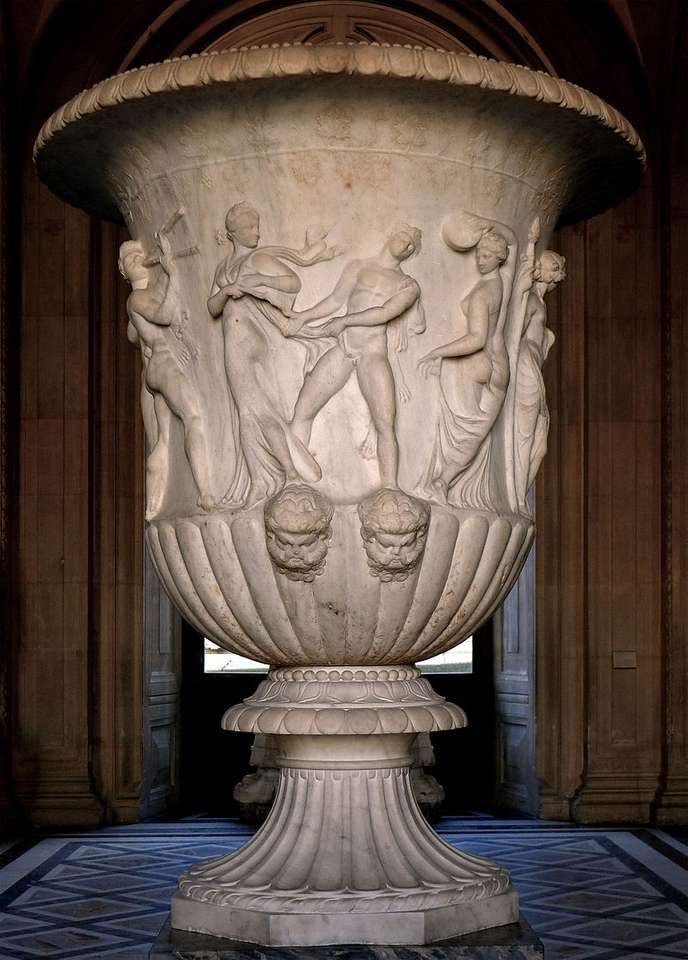 Ваза боргезе - Васа Боргезе - древногръцка мраморна ваза, сега в колекцията на Лувъра (2×4)