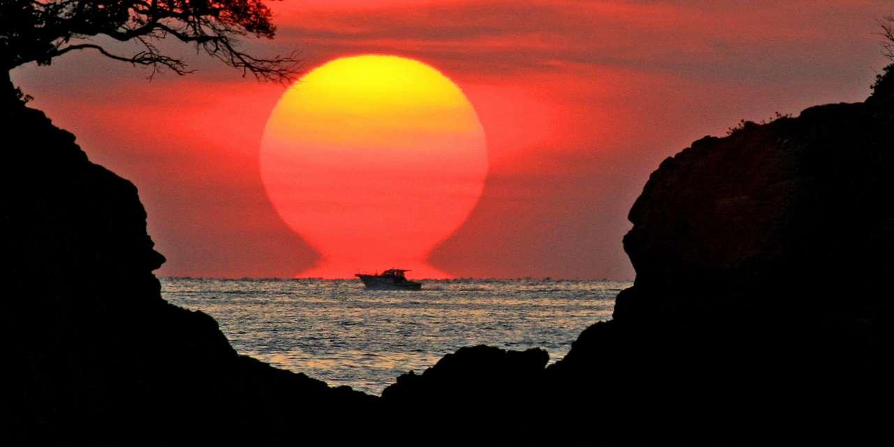 Západ slunce na pláži (14×7)