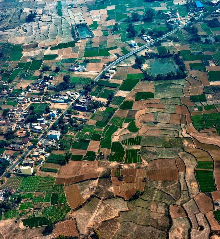 въздушен изглед на града през деня - Въздушен изглед! Индия, Индия (13×15)