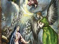 The Annunciation (painting of El Greco of the Colegio)