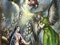 Zvěstování (obraz El Greca z Colegia)