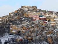 snow in Calitri AV Italy
