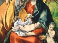 Svatá rodina se sv. Anna a dítě St. Jan