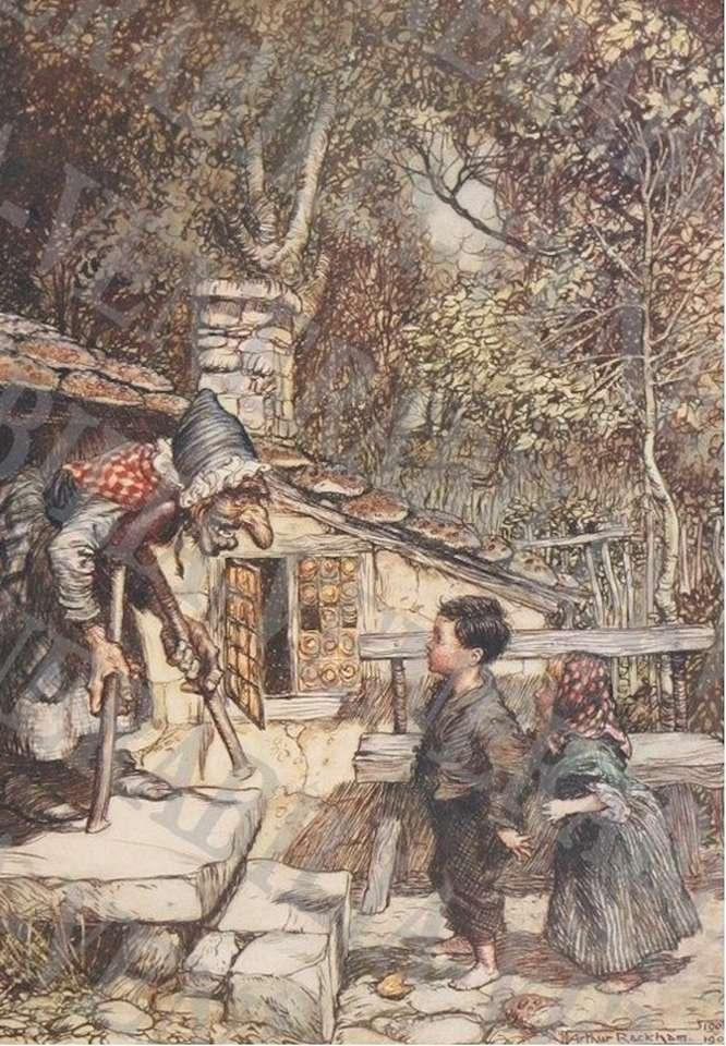 Jeníček a Mařenka u ježibaby (13×20)