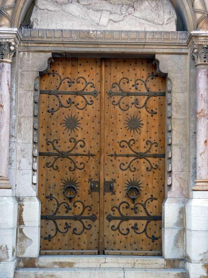 porta de uma igreja - porta em Aix en Provence (9×12)