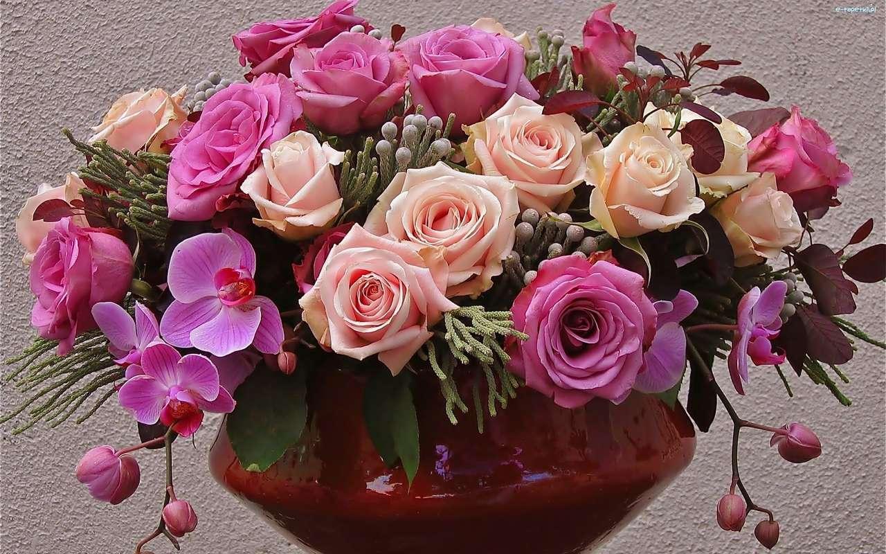 букет от цветя - м (14×9)