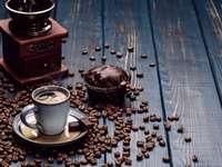 káva s čokoládou