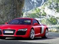 rojo Audi R8, 2013