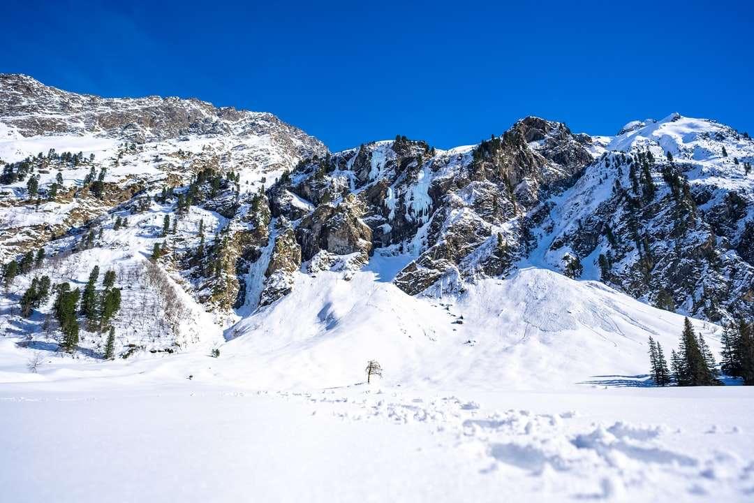 montanha coberta de neve sob céu azul durante o dia - Lüsens, Österreich (9×6)