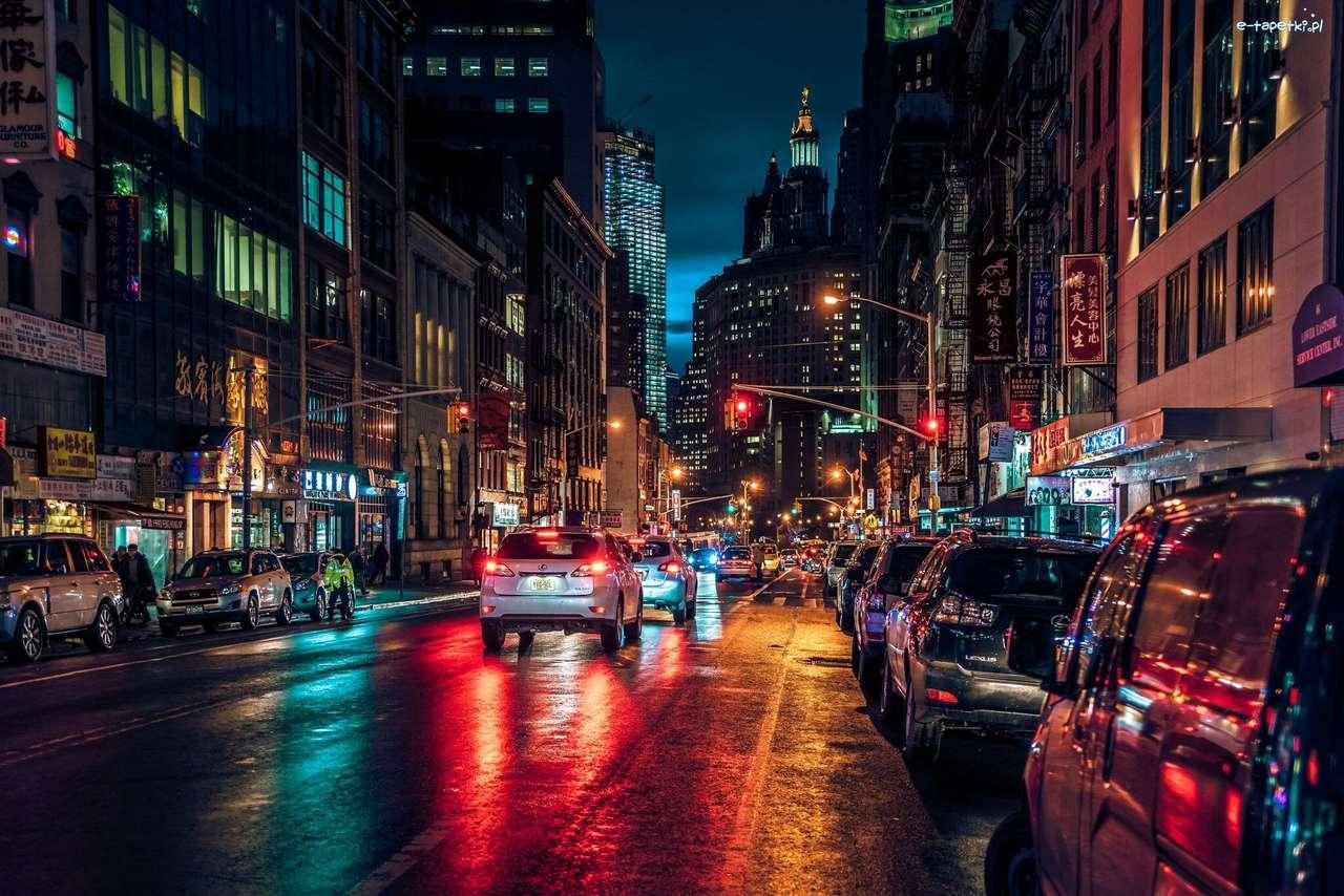 Manhattan in der Nacht - m (13×9)