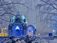 kyrka, vinter