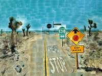 """Pearblossom Highway"" (1986) David Hockney"