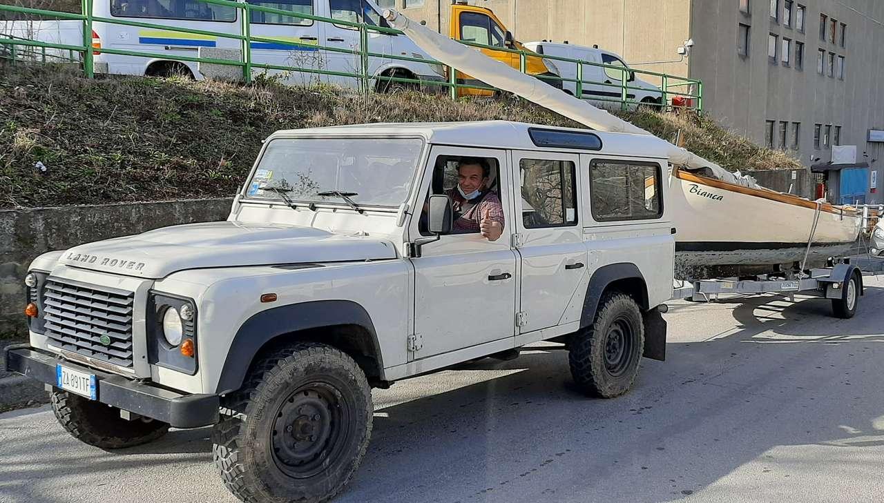 Land Roverco-vrachtwagen Italië